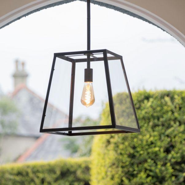 Glass lantern pendant Light