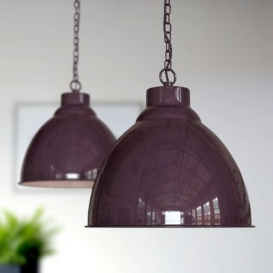 Oxford Vintage Pendant Light Mulberry Red
