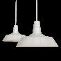 Large Argyll Industrial Pendant Light Clay White Cream - Soho Lighting