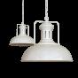 Regent Vintage Pendant Light Clay White - Soho Lighting