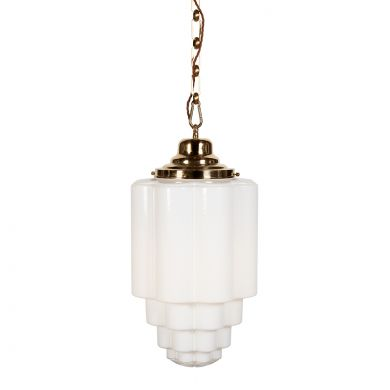 Glasshouse Brass Opal Pendant Light