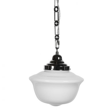 Frith Nickel Opaque Pendant Light - The Schoolhouse Collection