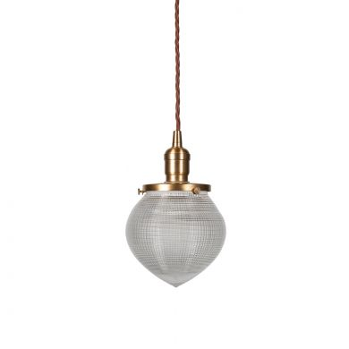 The Hollen Acorn Brass prismatic glass pendant - The Schoolhouse Collection