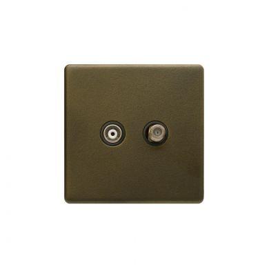 Bronze TV & Satellite Socket