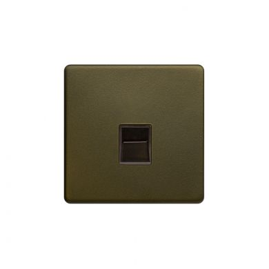 The Eton Collection Bronze 1 Gang Tel Secondary Socket,BT Screwless