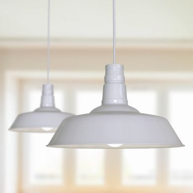 Argyll Industrial Pendant Light Pale Grey