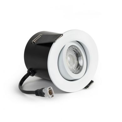 White Tiltable 4K Fire Rated LED 6W IP44 Dimmable Downlight