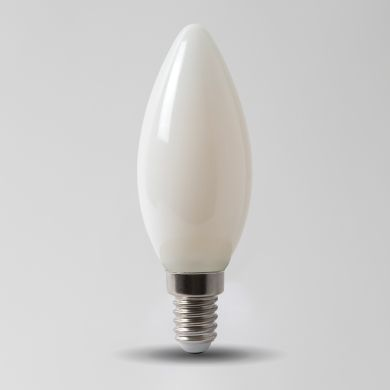 4w E14 4100K Opal Dimmable with white plastic