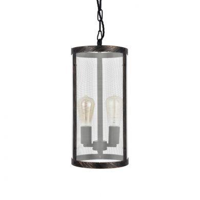 Tisbury Cylinder Mesh Lantern Style Pendant Light