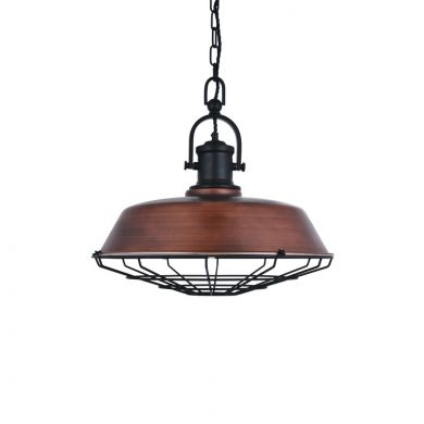 Bronze Industrial Pendant Light