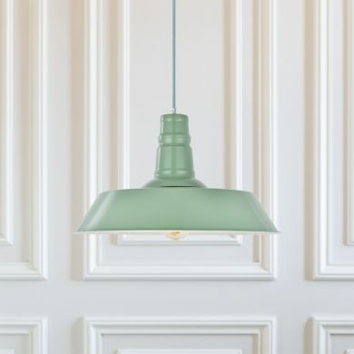Skip to the beginning of the images gallery Argyll Industrial Pendant Light Chalk Green