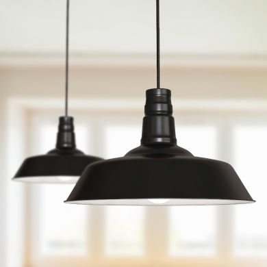 Argyll Industrial Pendant Light Matt Black