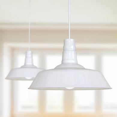 Argyll Industrial Pendant Light Pure White