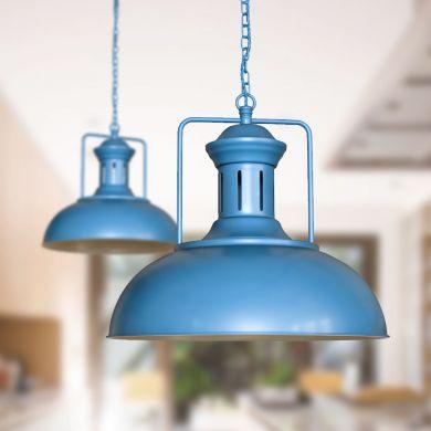 Regent Vintage Kitchen Pendant Light Aston Blue
