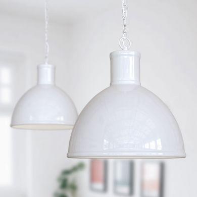 Wardour Industrial Bay Pendant Light Pure White