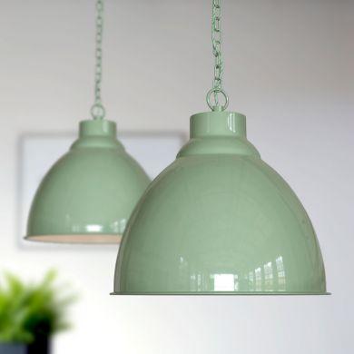 Oxford Vintage Pendant Light Chalk Green