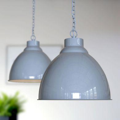 Oxford Vintage Pendant Light French Grey