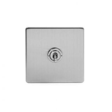 Soho Lighting Brushed Chrome 1 Gang 20 Amp Intermediate Toggle Switch Screwless