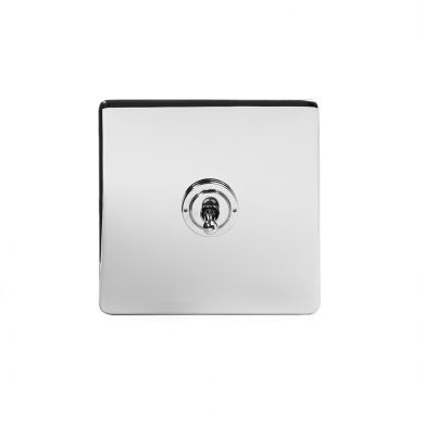 Soho Lighting Polished Chrome 1 Gang 20 Amp Intermediate Toggle Switch Screwless