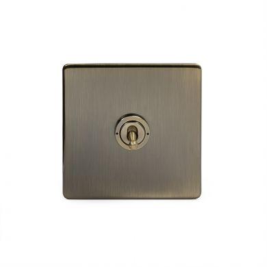Antique Brass 20A 1 Gang Intermediate Toggle Switch