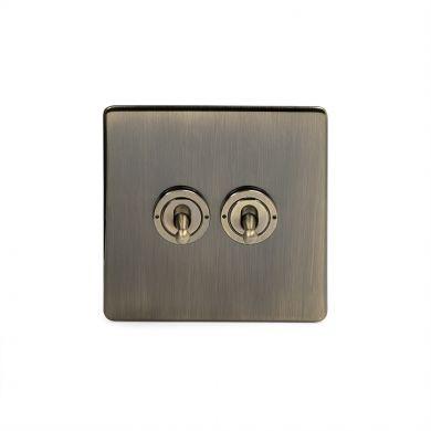 20A 2 Gang Intermediate Toggle Switch