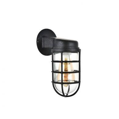 Broadwick Coffee Black Finish Indoor Nautical Bulkhead Wall Light