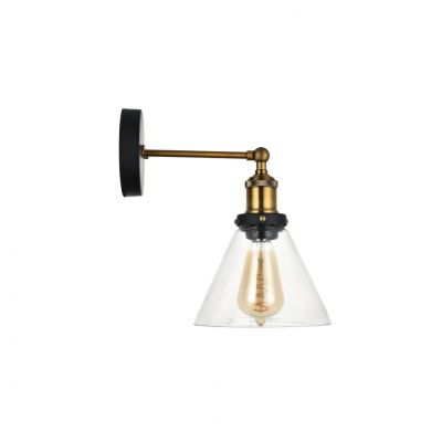 Romilly Clear Glass Funnel Wall Light