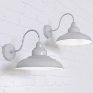 Portland Reclaimed Style Wall Light Pale Grey