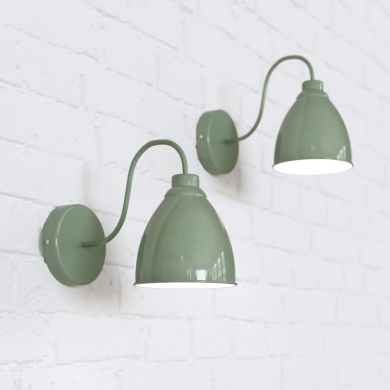 Oxford Vintage Wall Light Chalk Green