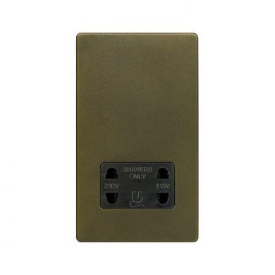 The Eton Collection Bronze Shaver Socket 230/115V Screwless