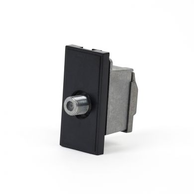 F Connector Module | Black F Connector