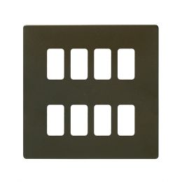 Soho Lighting Bronze 8 Gang Grid Plate Screwless