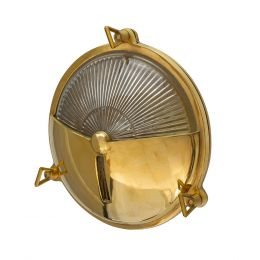 Carlisle Half Cover Polished Brass IP66 Wall Light - The Outdoor & Bathroom Collection