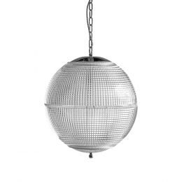 Hollen Globe Classic Nickel Glass Pendant Light - The Schoolhouse Collection