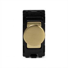 Soho Lighting Brushed Brass 150W LED (400w Halogen/Incandescent) 2 Way Intelligent Trailing Edge Dimmer - Grid Module