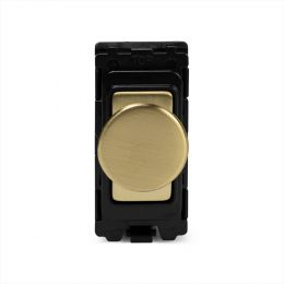Soho Lighting Brushed Brass 6A Dummy Dimmer Switch - Grid Module