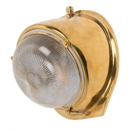 Kingly Polished Brass IP66 Rated Wall Light - The Outdoor & Bathroom Collection
