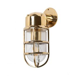 Kemp IP66 Rated Polished Brass Wall Light - The Outdoor & Bathroom Collection