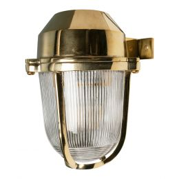 Hopkin Polished Brass IP66 Prismatic Glass Light - The Outdoor & Bathroom Collection