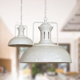 Regent Vintage Kitchen Pendant Light Clay White