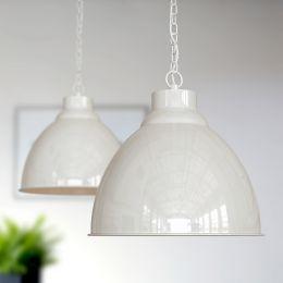 Oxford Vintage Pendant Light Clay White