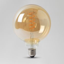 Vintage StyleEdison Clear LED G125 Bulb Spiral Filament