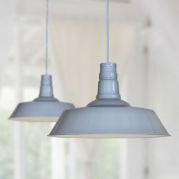 Large Argyll Industrial Pendant Light French Grey