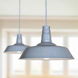 Argyll Industrial Pendant Light French Grey