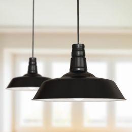 Argyll Industrial Pendant Light Matt Black