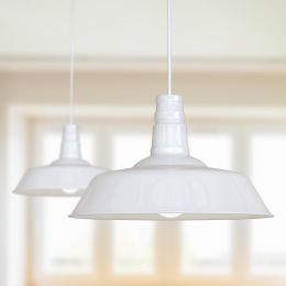 Argyll Industrial Pendant Light Pure White