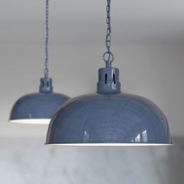 Berwick Rustic Dome Pendant Light Leaden Grey