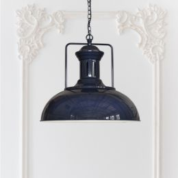 Regent Vintage Kitchen Pendant Light Squid Ink Blue