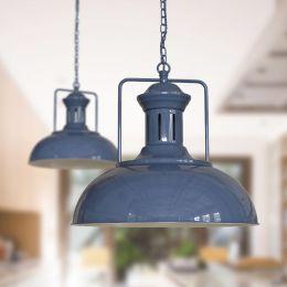 Regent Vintage Kitchen Pendant Light Leaden Grey