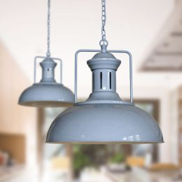 Regent Vintage Kitchen Pendant Light French Grey